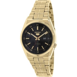 Seiko Women's 5 Automatic SNKJ22K Gold Stainless-Steel Analog Quartz Watch with Black Dial