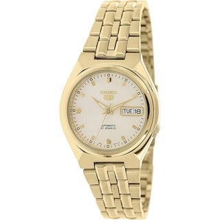 Seiko Men's 5 Automatic SNKL74K Gold Stainless-Steel Automatic Watch with Gold Dial