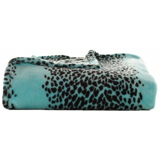 Betsey Johnson Leopard Stripe Ultra Plush Throw