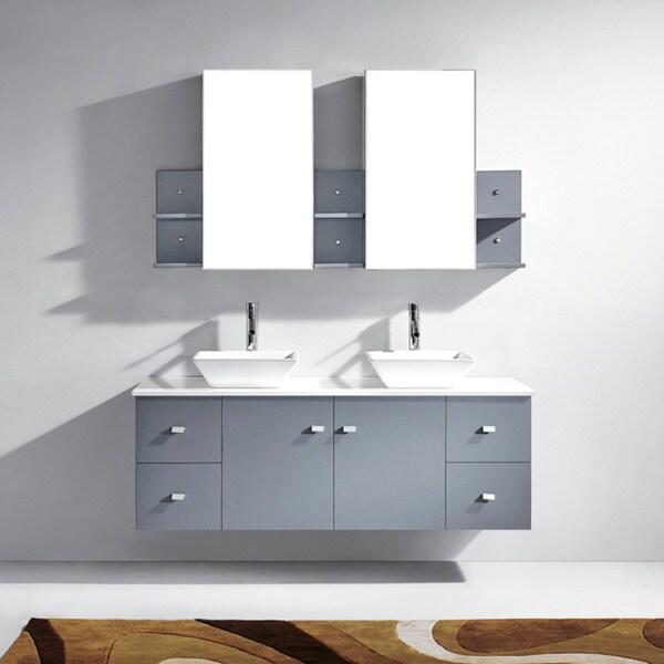 Virtu Usa Clarissa 72 Inch White Double Sink Bathroom Vanity Set Overstock Shopping Great