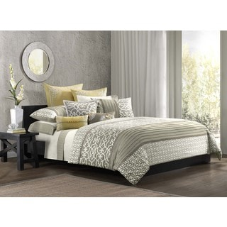 N Natori Fretwork Cotton Duvet Cover with Sham Options
