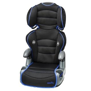 Evenflo Big Kid High Back Booster Car Seat in Neon Ultramarine