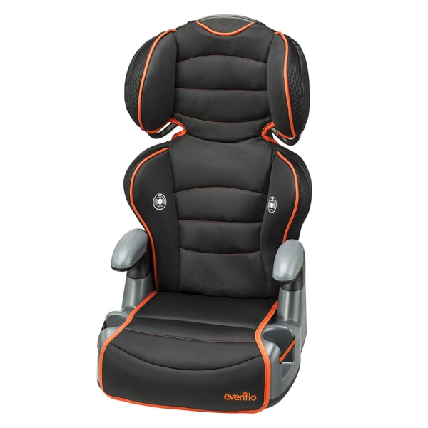 Evenflo Big Kid High Back Booster Car Seat in Orangeade