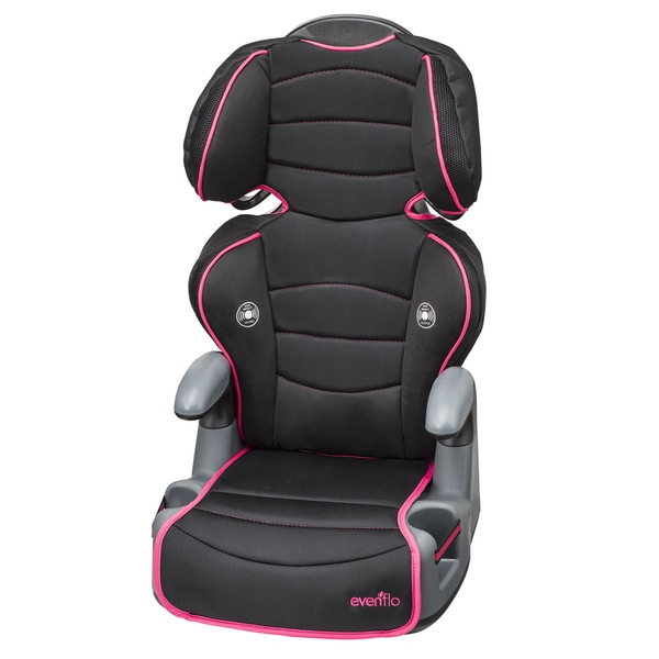 Evenflo Big Kid High Back Booster Car Seat in Neon Flamingo