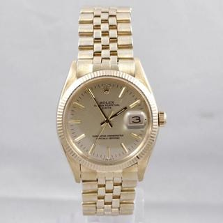 Pre-Owned Rolex Men's 15000 Date Series Yellow Gold Fluted Bezel Watch