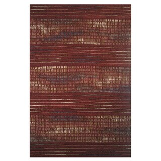 Machine-Made Namosa Red Polypropylene Rug (5' x 7'3)