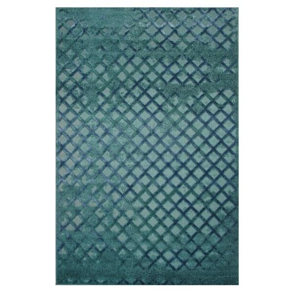 Era Blue Frisee Area Rug (2' x 8')