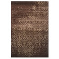 Era Brown Frisee Area Rug (2' x 8')