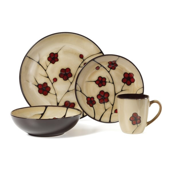 pfaltzgraff studio aster 16 piece dinnerware set