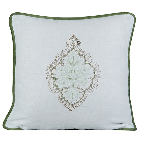 Peaceful Feather-filled Decorative Pillow