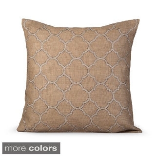 Intricate Feather-filled Decorative Pillow