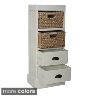 Gallerie Decor Nantucket Two-drawer and Two-door Basket Cabinet