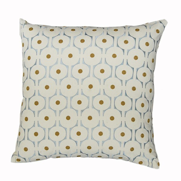 Cell Off-white Feather-filled Decorative Pillow