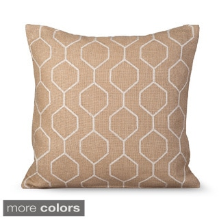 Pyramid Feather-filled Decorative Pillow