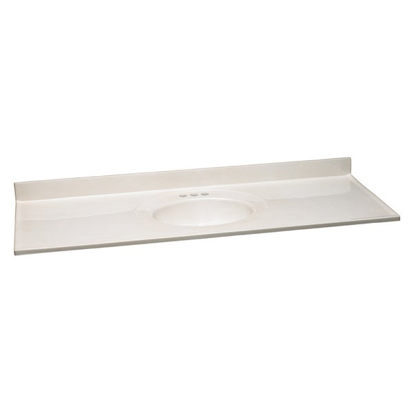 Design House Single Bowl White Cultured Marble Vanity Top