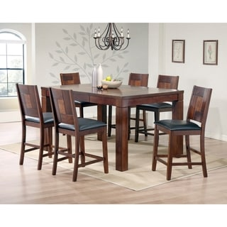 7-piece Walnut Veneer Pub Table Set
