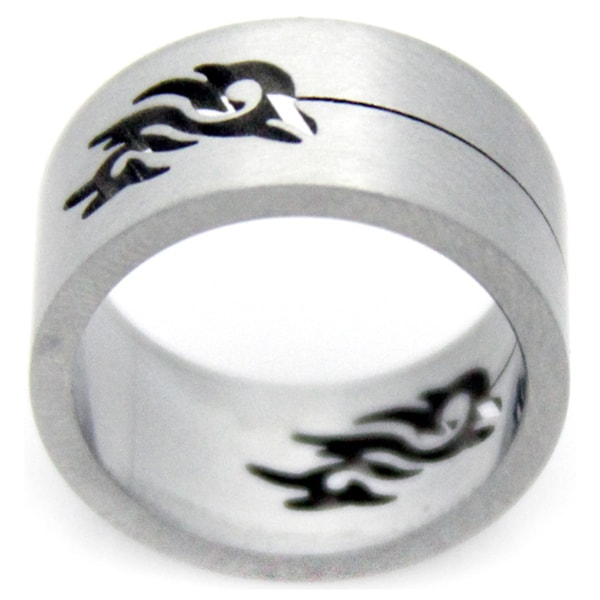 Stainless Steel Cut Out Tribal Design Ring