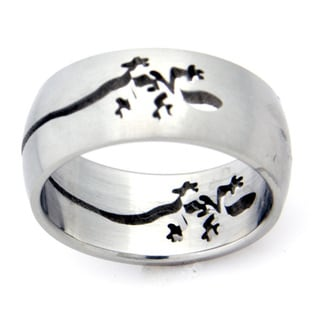Stainless Steel Lizard Cut-out Ring