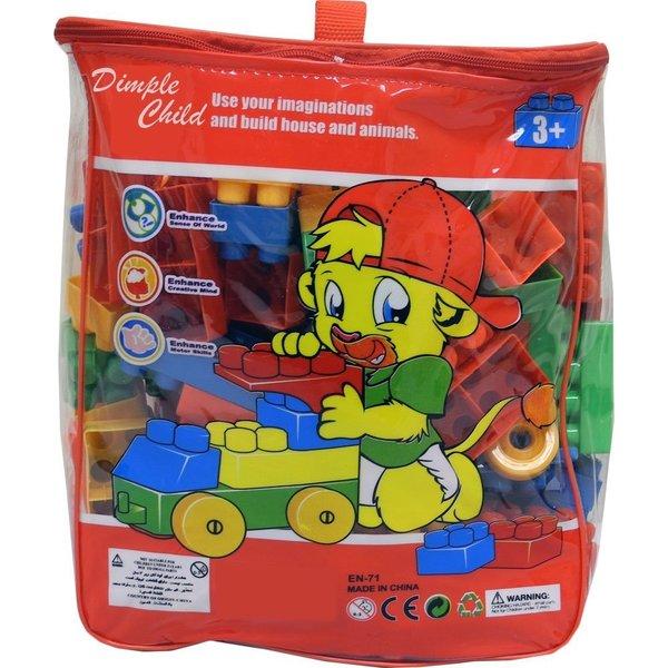 DimpleChild 150 Piece Building Bricks Set with Carry Bag