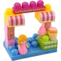 DimpleChild 15-piece Building Block Ice Cream Shop with Girl Figurine