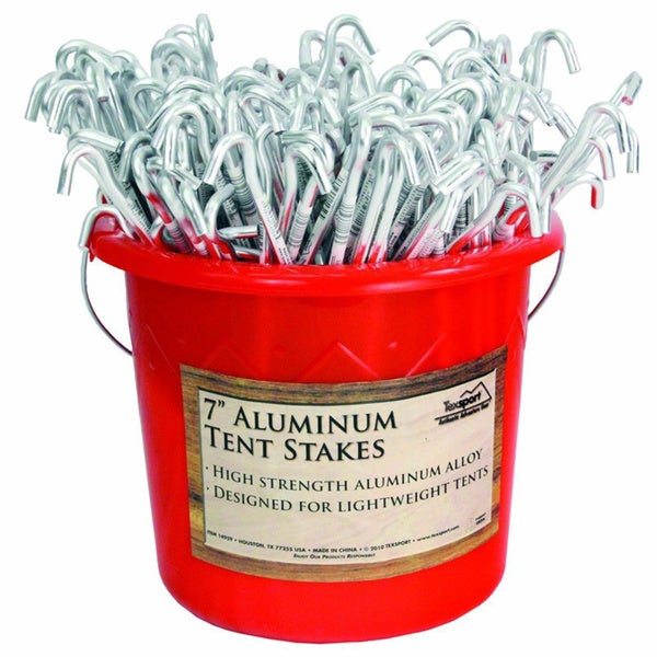 Texsport 200-piece Bucket of 7-inch Aluminum Tent Stakes