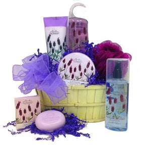 The Lavender Spa Gift Basket
