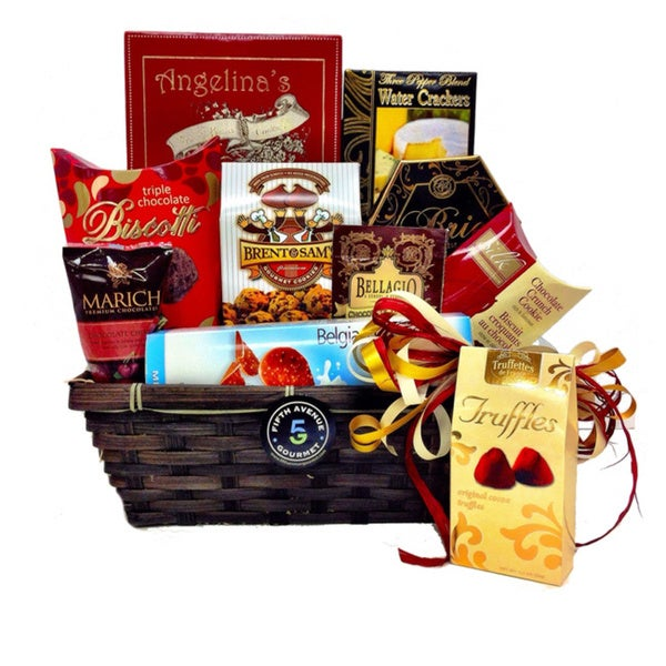Gourmet Chocolate and Cheese Basket