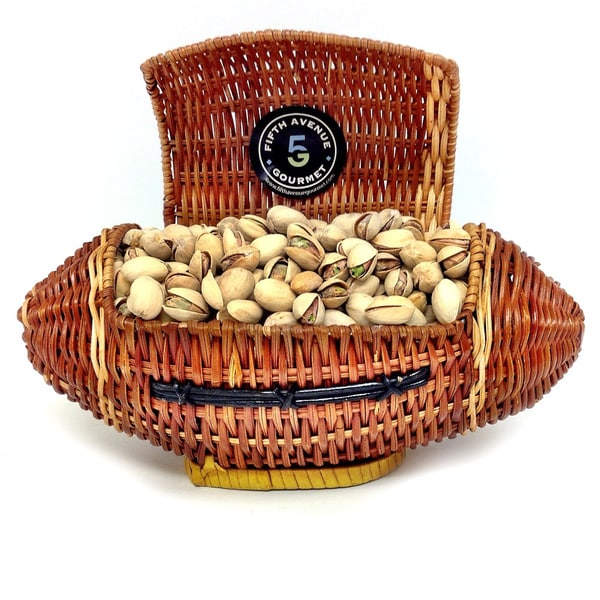 The Football Nut Pistachio Wicker Gift Basket