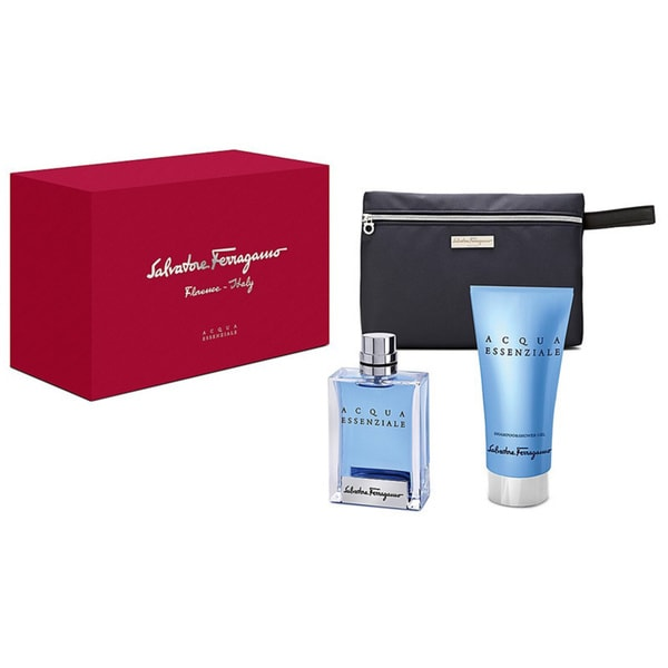 Salvatore Ferragamo Acqua Essenziale Men's 3-piece Fragrance Set