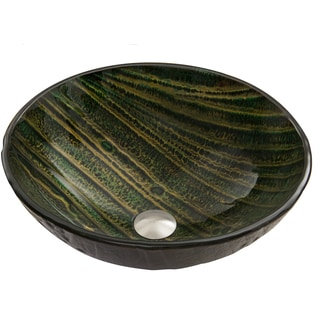VIGO Green Asteroid Glass Vessel Sink