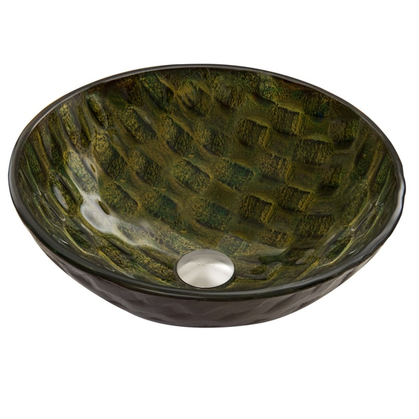 VIGO Amazonia Glass Vessel Sink