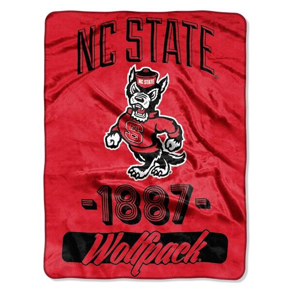 NCAA NC Wolfpack State College Varsity Micro Throw Blanket