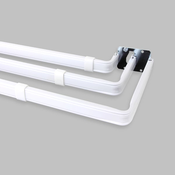 Triple Traverse Curtain Rod White Traverse Curtain Rod