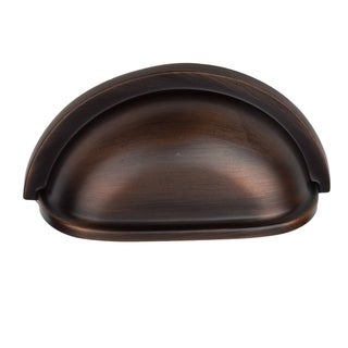 GlideRite 3-inch Oil Rubbed Bronze Cap Bin Cabinet Pulls (Pack of 10 or 25)