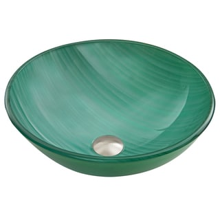 VIGO Whispering Wind Glass Vessel Sink