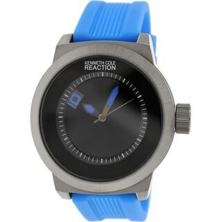Kenneth Cole Reaction Men's RK1411 Blue Rubber Quartz Watch with Black Dial