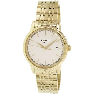 Tissot Men's Carson T085.410.33.021.00 Gold Stainless-Steel Swiss quartz Watch with Gold Dial