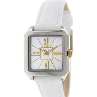 Kenneth Cole Women's KC2848 White Leather Quartz Watch