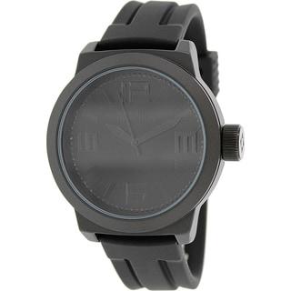 Kenneth Cole Reaction Men's RK1390 Black Rubber Quartz Watch with Black Dial
