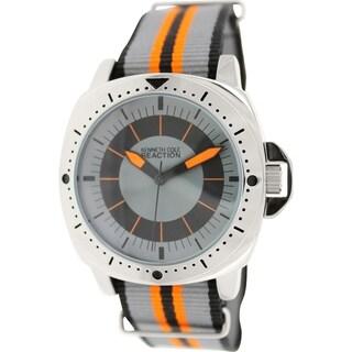 Kenneth Cole Reaction Men's RK1406 Multicolor Nylon Quartz Watch with Grey Dial