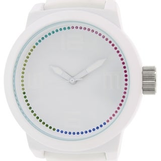 Kenneth Cole Reaction Men's RK1389 White Silicone Quartz Watch with White Dial