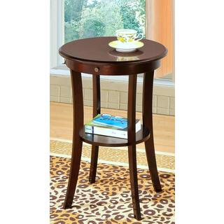 Fitzgerald Round Accent Tabble with Shelf