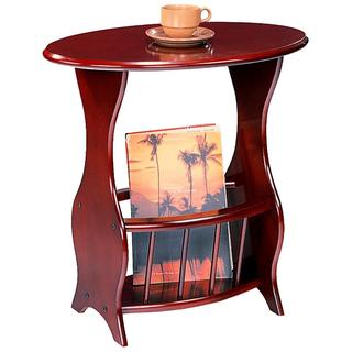 Cherry Accent Table with Magazine Rack