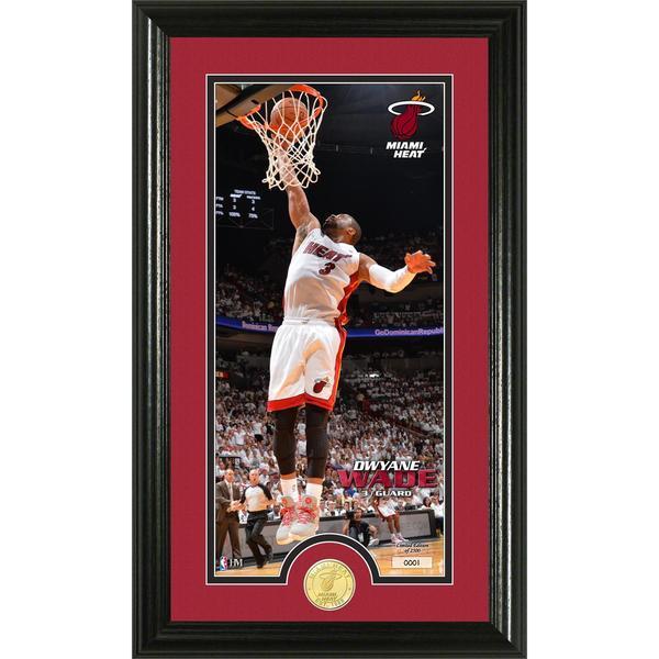 NBA Dwayne Wade Bronze Coin Panoramic Photo Mint