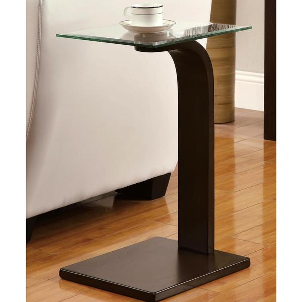 Contemporary Glass Top Accent Table