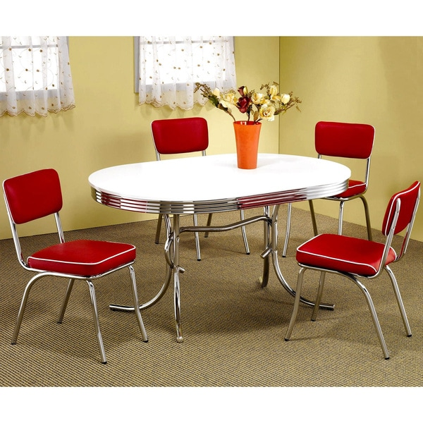 Haverstraw Nostalgic Bistro Chrome Dining Set