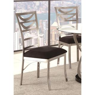 Schultz Metal Ladder Back Dining Chairs (Set of 2)