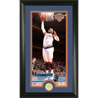NBA Carmelo Anthony Bronze Coin Panoramic Photo Mint