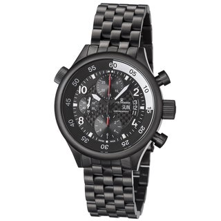 Revue Thommen Men's 17061.6177 'Pilot' Black Carbon Fiber Dial Black Stainless Steel Automatic Watch