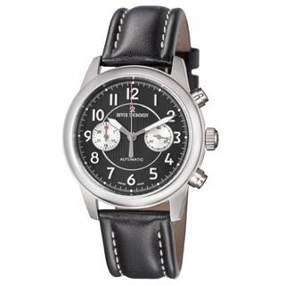 Revue Thommen Men's 16064.6737 'Air Speed' Black Dial Black Leather Strap Automatic Watch